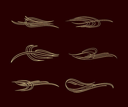 pinstriping stripe america style collection set