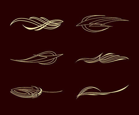 america pinstriping style collection set Illusztráció