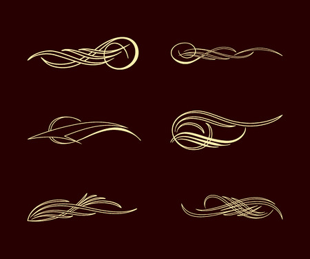 america pinstriping style collection set Illustration