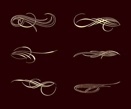 Conjunto de colección de estilo pinstriping de américa Foto de archivo - 87041874