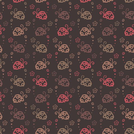 ladybug: insect colorful pattern background