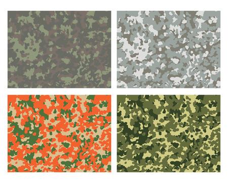 Camouflage-Muster-Design mit unterschiedlicher Farbe