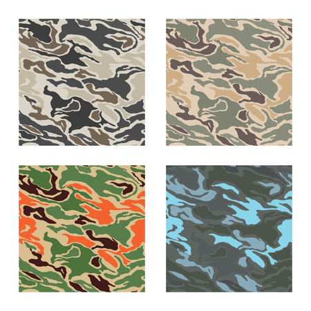 camouflage pattern design with different color Stok Fotoğraf - 87470550