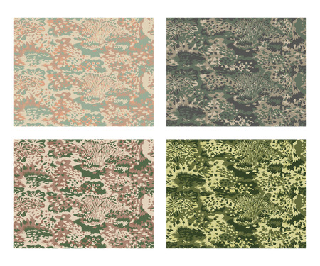 camouflage pattern design with different color Stock fotó - 87470559