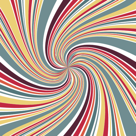 Abstract Line twirl focus with retro color background Illustration