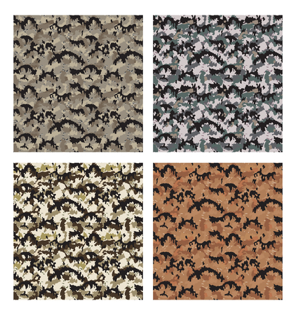 camouflage pattern design with different color Stock fotó - 87470600