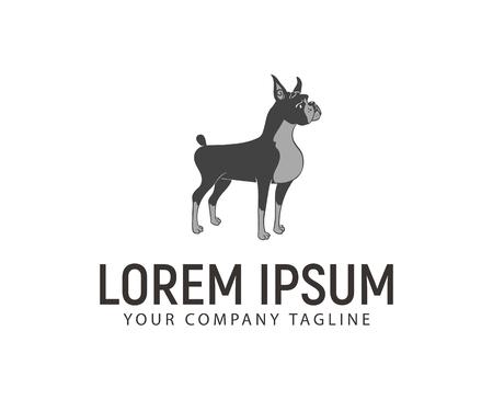 Pet dog logo design concept template Ilustração