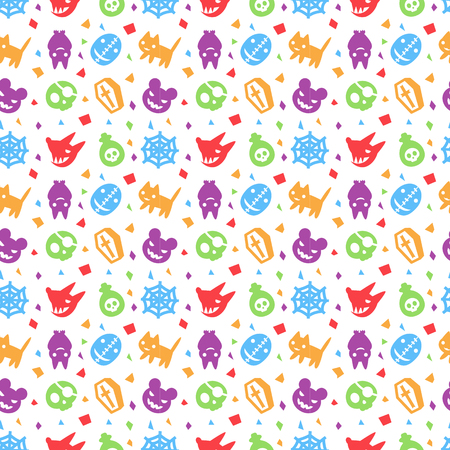 cute hallowen pattern background with purple color
