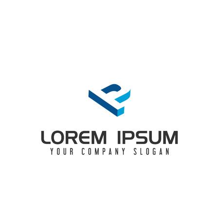 Plantilla de concepto de diseño de logotipo de espacio negativo de Lettter P Foto de archivo - 87854228
