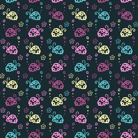 Escarabajo, colorido, patrón, fondo, con, pastel, color Foto de archivo - 87647575