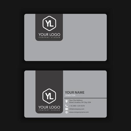 A clean dark business card on black background. Ilustracja