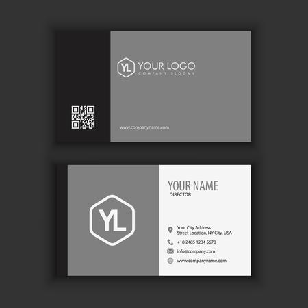 A clean dark business card on plain background.