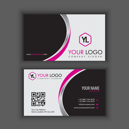 Modern Creative and Clean Business Card Template with purple color.