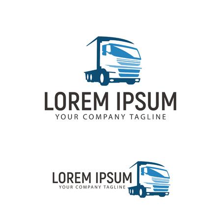 トラック運送輸送ロゴ デザイン コンセプト テンプレート