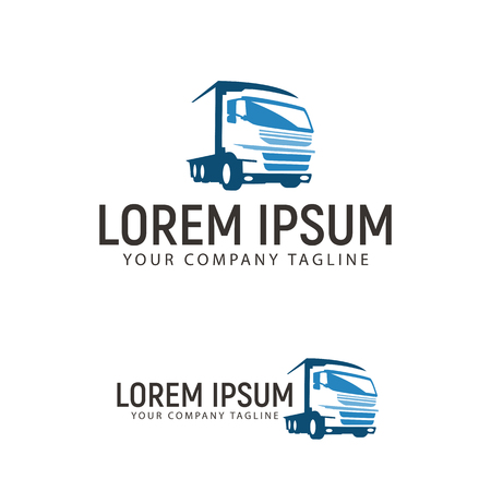 trucking transportation logo design concept template