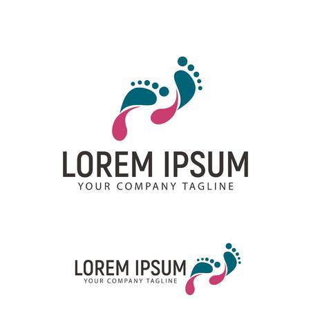 footprint logo design concept template Stock Vector - 87777333