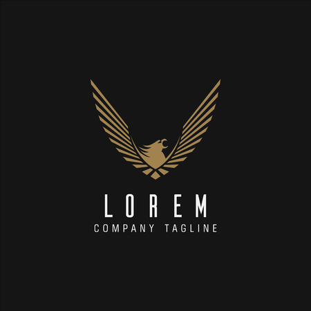 luxury eagle logo design concept template