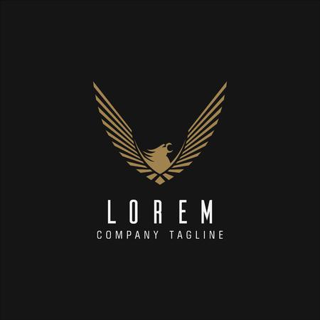 modello di concetto di design di logo di lusso di aquila Logo
