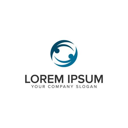 business partner logo design concept template Illustration
