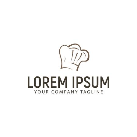 chef hat logo design concept template Illustration