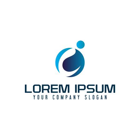 Modern letter I technology communication logo design concept template