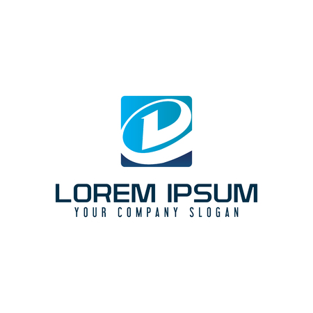 Moderne letter D technologie logo ontwerpsjabloon concept Stock Illustratie