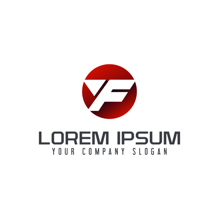文字 F モダンなロゴ。サークル デザイン コンセプト テンプレート