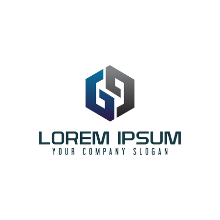 Modern letter G logo design concept template Illusztráció