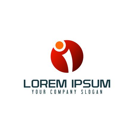 Letter I logo design concept template Illustration