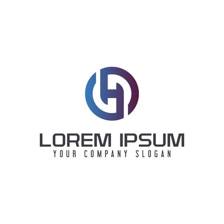 Letter H logo design concept template