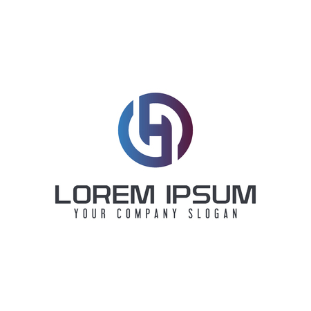 Letter H logo design concept template Reklamní fotografie - 88417486