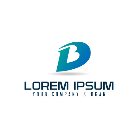 lettre de et b logo template template design