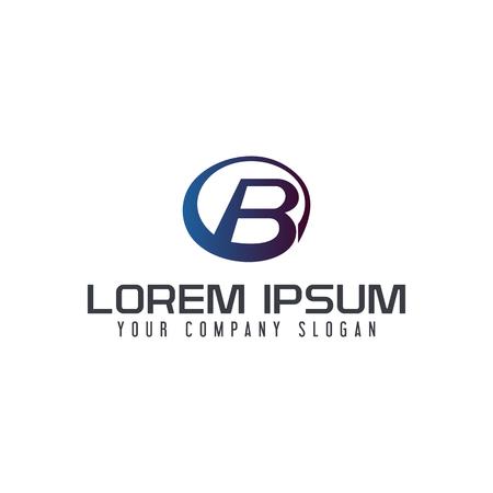 Letter B circle logo design concept template