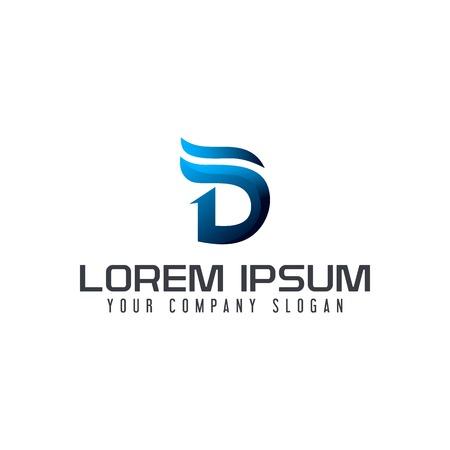 現代文字 D ロゴ デザイン コンセプト テンプレート  イラスト・ベクター素材