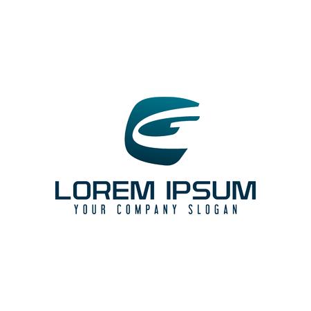 Letter G logo. business technology design concept template Logó