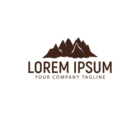 A mountain logo design concept template Çizim