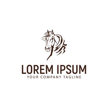 A head horse logo. vintage design concept template