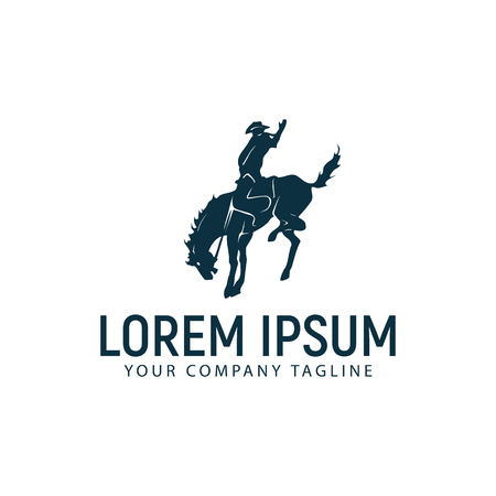 A horseback riding logo design concept template