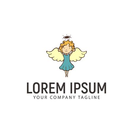 A little angel logo design concept template