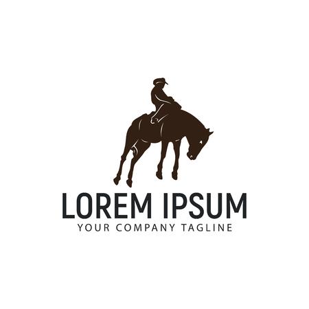 A horseback riding logo design concept template