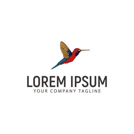 A hummingbird logo design concept template