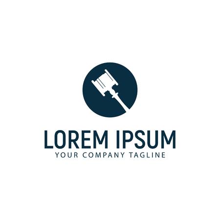 Een hamer wet logo ontwerpsjabloon concept Stock Illustratie