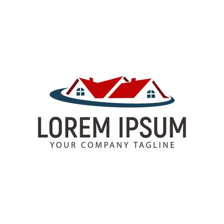 不動産のロゴ。住宅ローンの家の不動産のロゴのデザイン コンセプト テンプレート