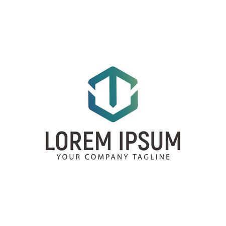 A letter T logo. technology modern design concept template Illustration