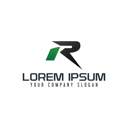 Ein Buchstabe R Logo. Designvorlage für schnelle Designgeschwindigkeit