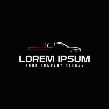 A mini van auto logo design concept template