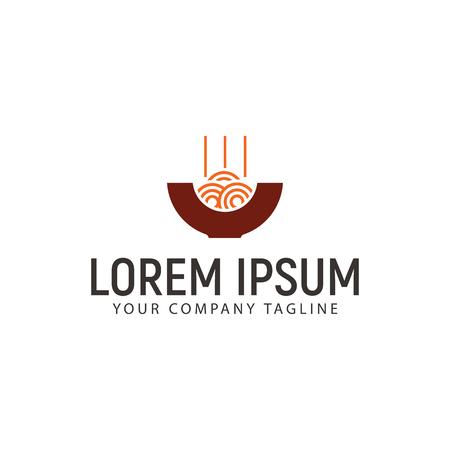 A noodles logo design concept template