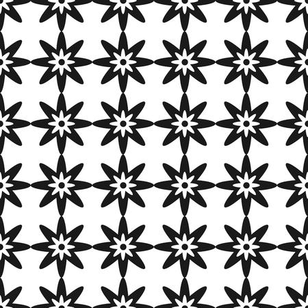벡터 원활한 패턴입니다. 흑백 반복되는 기하학적 모양 패턴