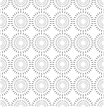 Vector seamless pattern. Black and white Repeating geometric circle pattern Illustration