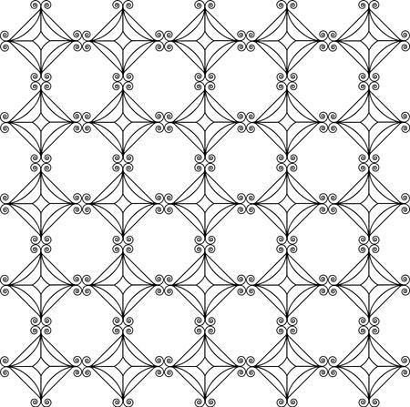 Vector naadloos patroon. Zwart en wit Herhalend geometrisch patroon Stock Illustratie